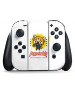 Aggretsuko Karaoke Queen Nintendo Switch Joy Con Controller Skin