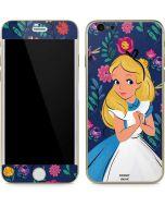 Alice in Wonderland Floral Print iPhone 6/6s Skin