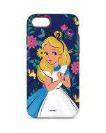 Alice in Wonderland Floral Print iPhone 8 Pro Case