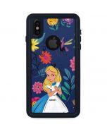 Alice in Wonderland Floral Print iPhone X Waterproof Case