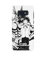 All Might and Deku Black And White Galaxy Note 9 Pro Case