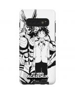 All Might and Deku Black And White Galaxy S10 Plus Pro Case