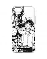All Might and Deku Black And White iPhone 8 Pro Case