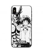 All Might and Deku Black And White iPhone X Skin