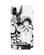 All Might and Deku Black And White iPhone XS Lite Case