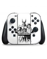 All Might and Deku Black And White Nintendo Switch Joy Con Controller Skin