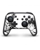 All Might and Deku Black And White Nintendo Switch Pro Controller Skin