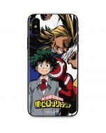 All Might and Deku iPhone XS Skin