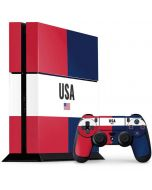 American Flag Color Block PS4 Console and Controller Bundle Skin