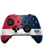 American Flag Color Block Xbox One Elite Controller Skin