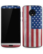 American Flag Distressed Moto G6 Skin