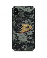 Anaheim Ducks Camo iPhone X Skin