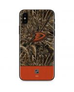 Anaheim Ducks Realtree Max-5 Camo iPhone X Skin