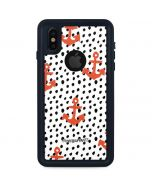Anchors and Dots iPhone XS Waterproof Case