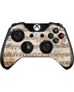 Antique Notes Xbox One Controller Skin