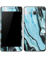 Aqua Blue Marble Ink Galaxy Grand Prime Skin