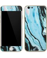 Aqua Blue Marble Ink iPhone 6/6s Skin