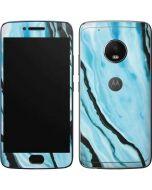 Aqua Blue Marble Ink Moto G5 Plus Skin