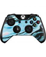 Aqua Blue Marble Ink Xbox One Controller Skin