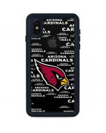 Arizona Cardinals Black Blast iPhone X Waterproof Case