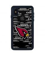 Arizona Cardinals Black Blast iPhone XS Waterproof Case