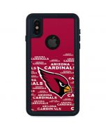 Arizona Cardinals Red Blast iPhone X Waterproof Case