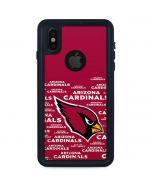 Arizona Cardinals Red Blast iPhone XS Waterproof Case