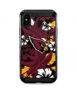 Arizona Cardinals Tropical Print iPhone XS Max Cargo Case