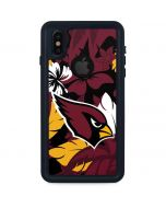 Arizona Cardinals Tropical Print iPhone XS Waterproof Case