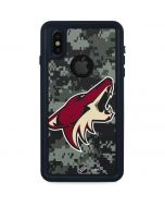 Arizona Coyotes Camo iPhone X Waterproof Case