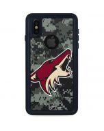 Arizona Coyotes Camo iPhone XS Waterproof Case
