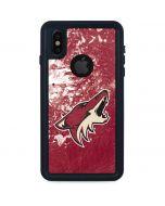 Arizona Coyotes Frozen iPhone XS Waterproof Case
