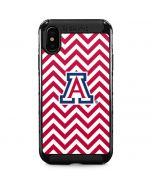 Arizona Wildcats Chevron Print iPhone XS Max Cargo Case