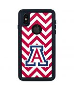 Arizona Wildcats Chevron Print iPhone XS Waterproof Case