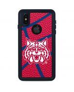 Arizona Wildcats Red Basketball iPhone XS Waterproof Case