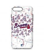 Atlanta Braves - White Primary Logo Blast iPhone 7 Plus Pro Case