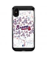 Atlanta Braves - White Primary Logo Blast iPhone XS Max Cargo Case