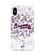 Atlanta Braves - White Primary Logo Blast iPhone XS Max Lite Case