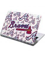 Atlanta Braves - White Primary Logo Blast Yoga 910 2-in-1 14in Touch-Screen Skin