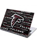 Atlanta Falcons Black Blast Yoga 910 2-in-1 14in Touch-Screen Skin