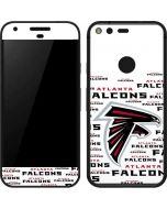 Atlanta Falcons White Blast Google Pixel Skin