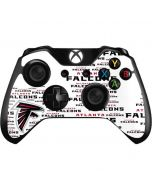 Atlanta Falcons White Blast Xbox One Controller Skin