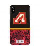 Atlanta Flames Retro Tropical Print iPhone XS Max Lite Case