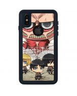 Attack On Titan Clouds iPhone XS Waterproof Case