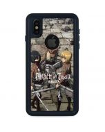 Attack On Titan Destroyed iPhone XS Waterproof Case