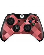 Autumn Red Geometric Xbox One Controller Skin
