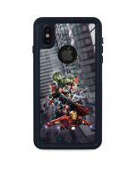 Avengers Team Power Up iPhone X Waterproof Case