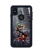 Avengers Team Power Up iPhone XS Waterproof Case