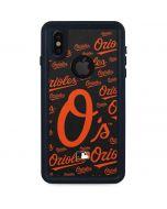 Baltimore Orioles - Cap Logo Blast iPhone XS Waterproof Case