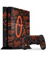 Baltimore Orioles - Cap Logo Blast PS4 Console and Controller Bundle Skin